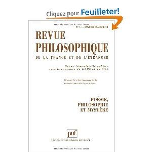 Revue philosophique de la France et de l'étranger - Tome 137, n ° 1 : Poésie, philosophie et mystère