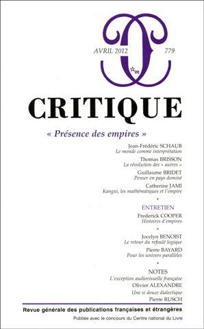 Critique, n°779 :