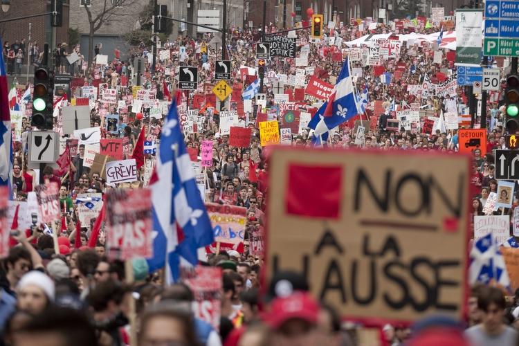 Québec: le gouvernement Charest veut restreindre le droit de manifester pour casser le mouvement étudiant (màj 21/05/12)
