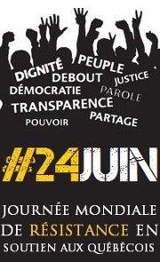 24 juin 2012: journée mondiale de soutien aux étudiants québécois