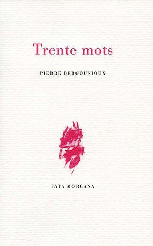 P. Bergounioux, Trente mots
