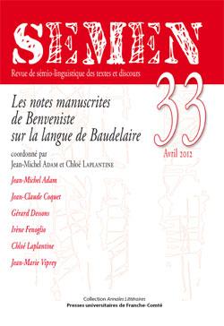 Semen, n° 33 (avril 2012) :