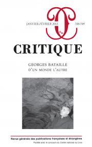 Critique, n°788-789 :