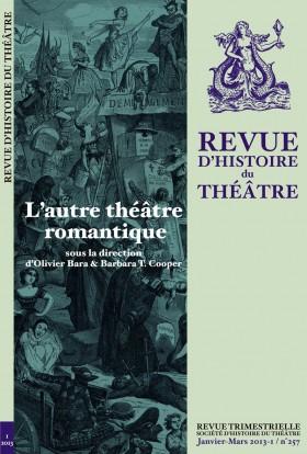 Revue d'histoire du théâtre, n°256, décembre 2012-4 :
