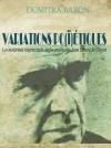 D. Baron, Variations po(ï)étiques. Les matériaux intertextuels anglo-américains dans l'œuvre de Cioran