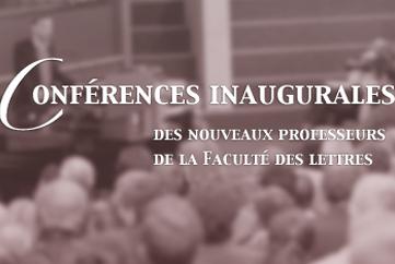 Leçons inaugurales de M. Escola, G. Philippe, D. Kunz-Westerhoff (Université de Lausanne)