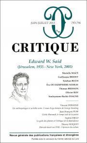 Critique, n°793-794 :