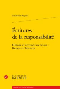 G. Napoli, Écritures de la responsabilité. Histoire et écrivains en fiction : Kertész et Tabucchi