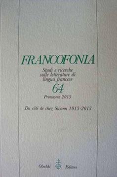 Francofonia, n°64, 2013 :