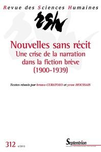 Revue des Sciences Humaines, n° 312, 2013: