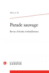 Parade sauvage, 2013, n° 24