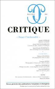 Critique, n°804, mai 2014 :