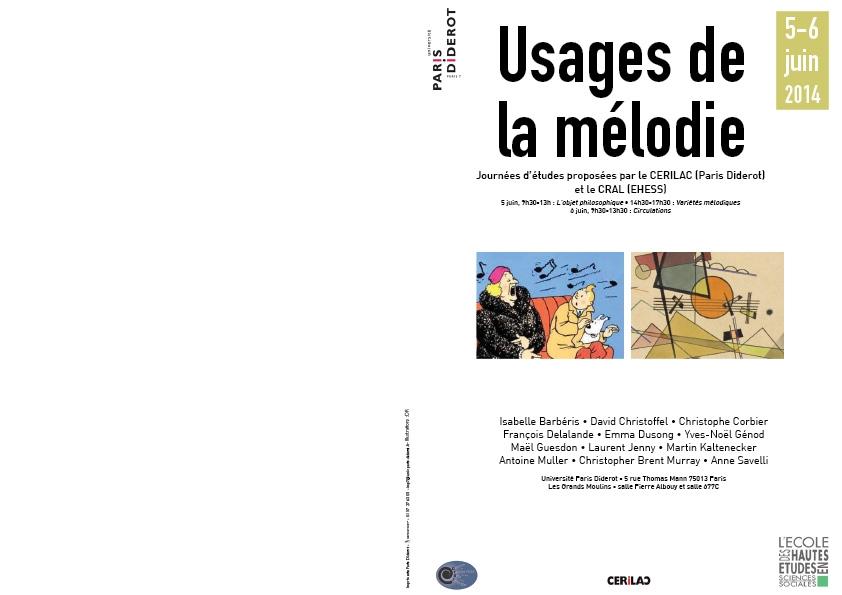 Usages de la mélodie