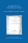 Lenglet-Dufresnoy: écrits inédits sur le roman (J. Herman & J. Cormier, éd.)