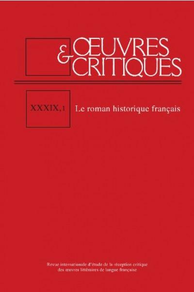 Œuvres et critiques, XXXIX, 1, 2014 :