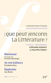 La Nouvelle Revue française, n°609 (septembre 2014):