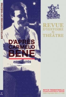 Revue d'Histoire du Théâtre, n° 263 :