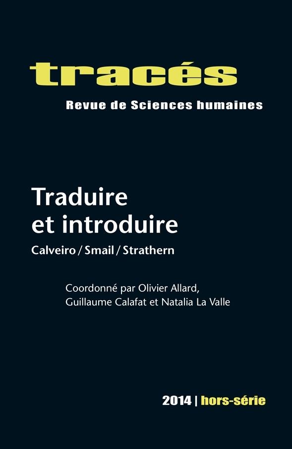 Tracés, HS 2014: Traduire et introduire
