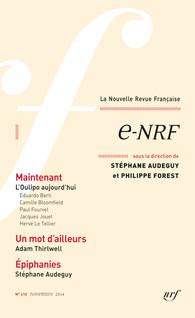 La Nouvelle Revue Française, 610, nov. 2014: e-NRF