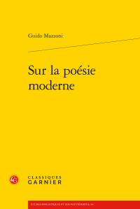 G. Mazzoni, Sur la poésie moderne