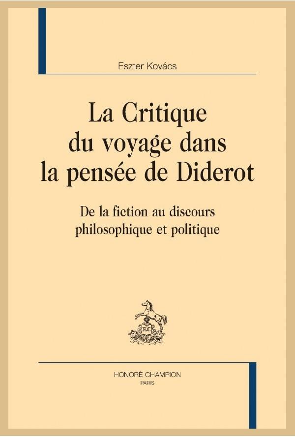 E. Kovács, La Critique du voyage dans la pensée de Diderot.