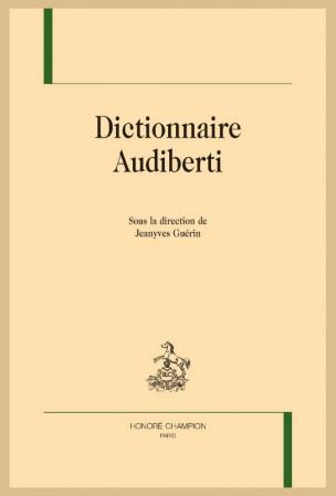 Dictionnaire Audiberti (J. Guérin, dir.)