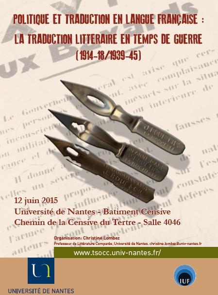 Politique et traduction en langue française : la traduction littéraire en temps de guerre (1914-18/1939-45)