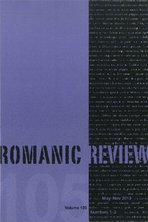 Romanic Review, 105-1/2