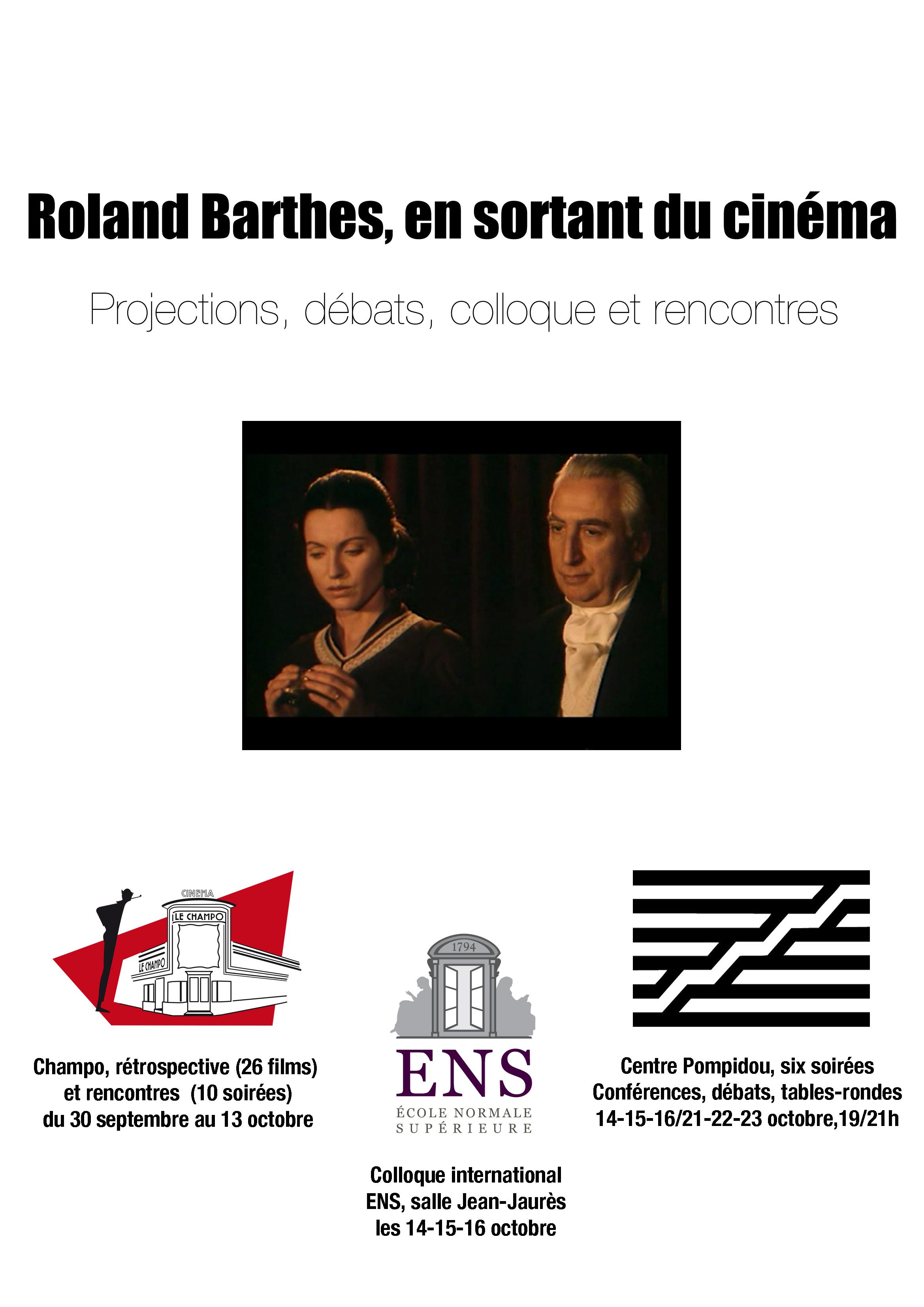 Barthes en sortant du cinéma (ENS)