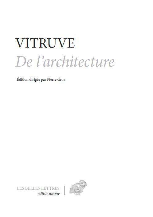Vitruve, De l'architecture (rééd.)