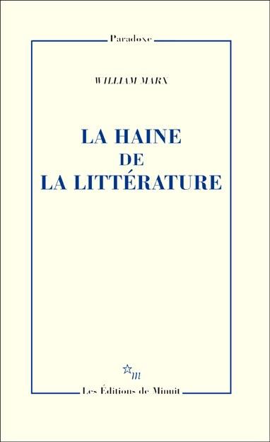 La haine de la littérature
