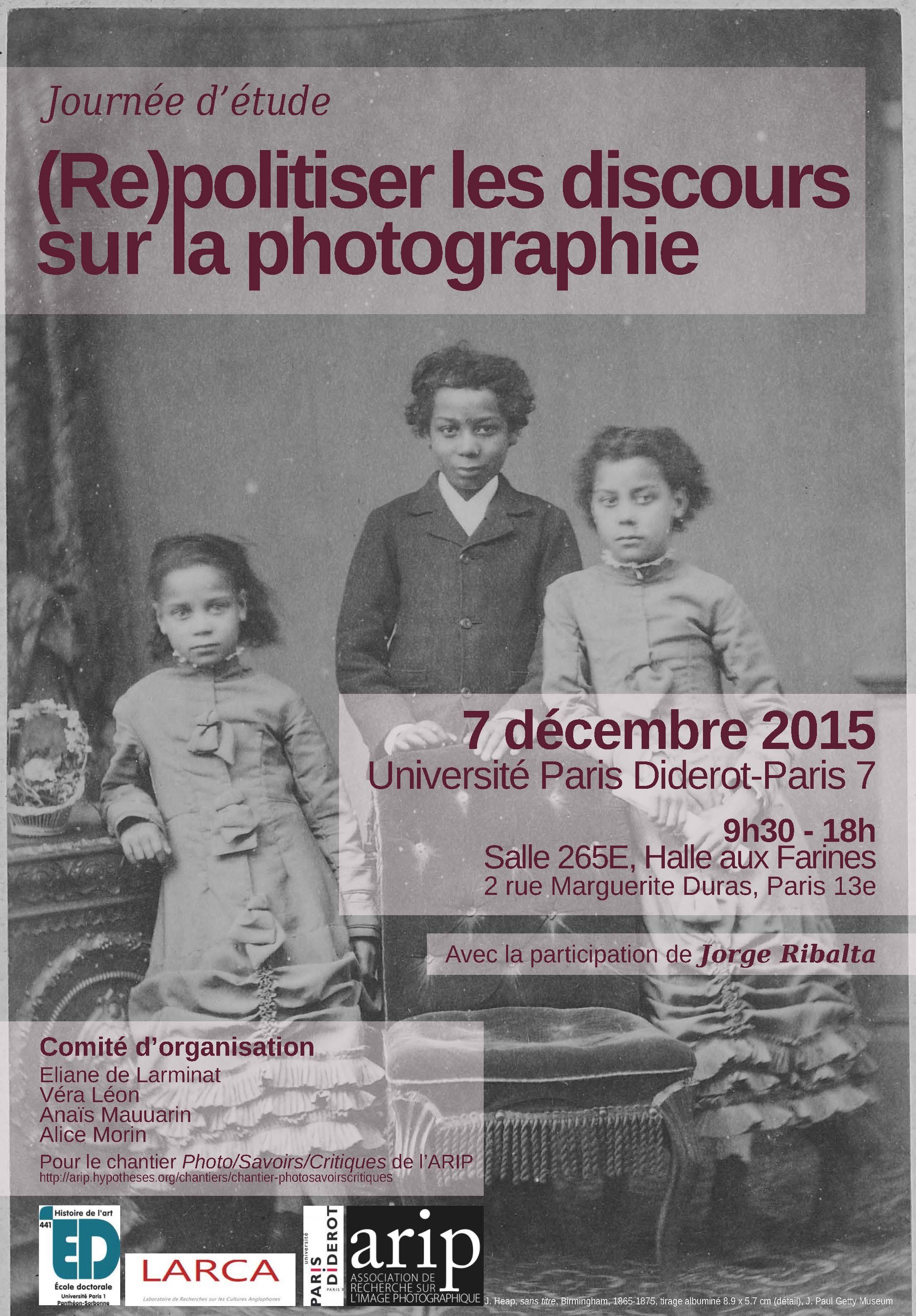 (Re)politiser les discours sur la photographie (Paris 7)