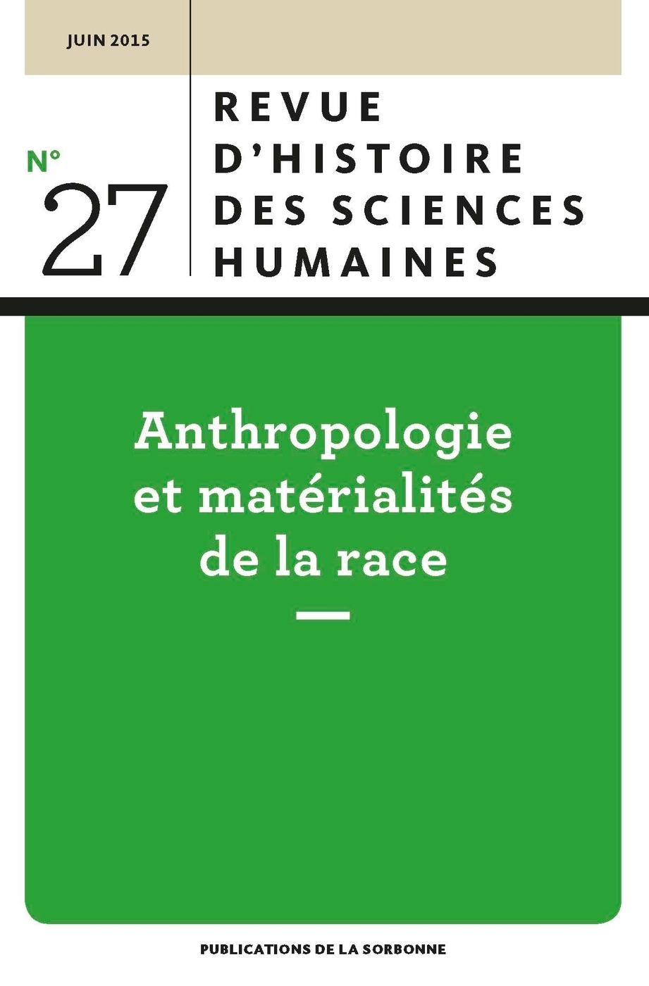 Revue d 39 histoire des sciences humaines n 27 for Revue sciences humaines