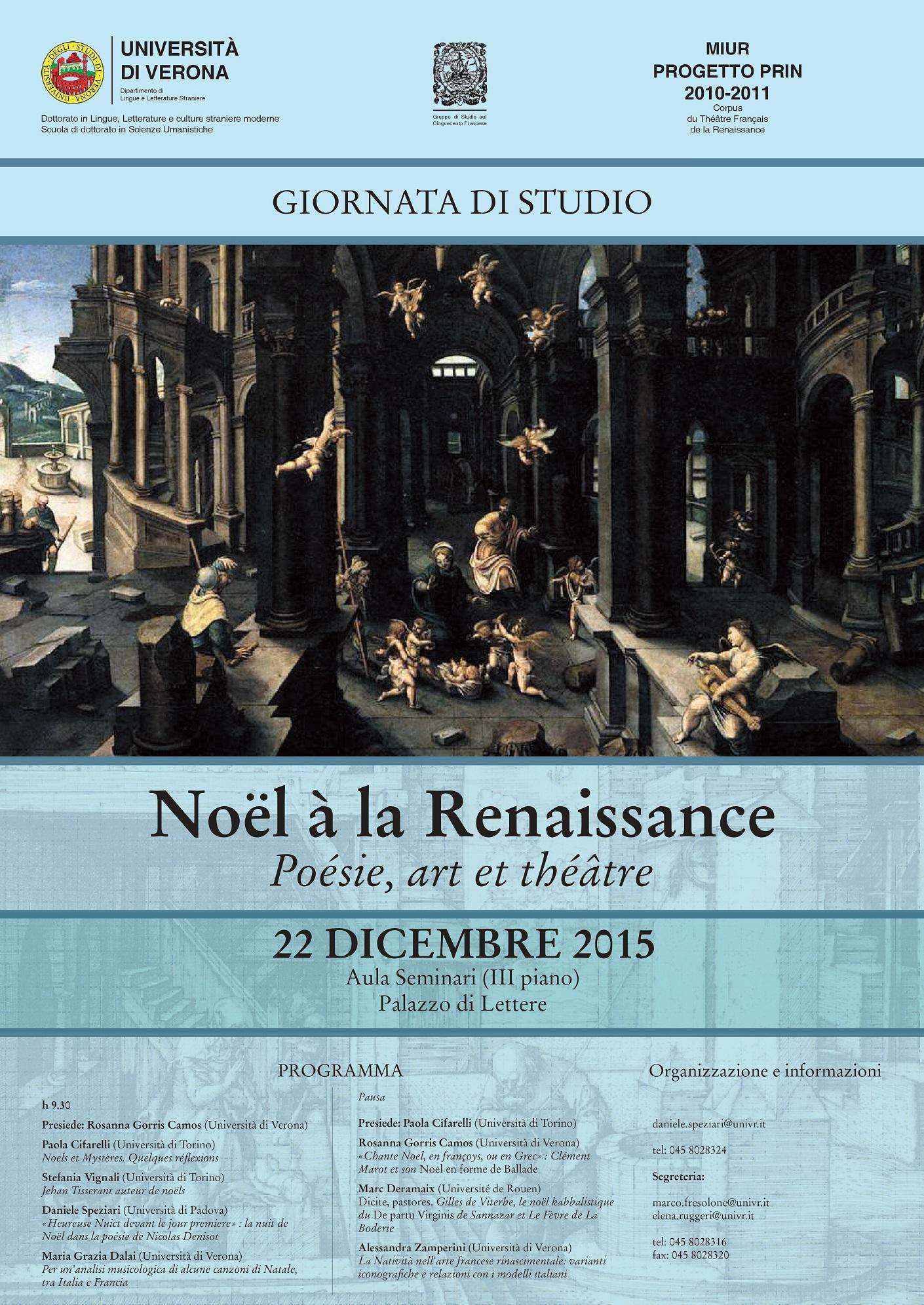 Noël à la Renaissance. Poésie, art et théâtre (Vérone)
