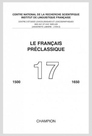 Le Français préclassique, n°17 (2016)