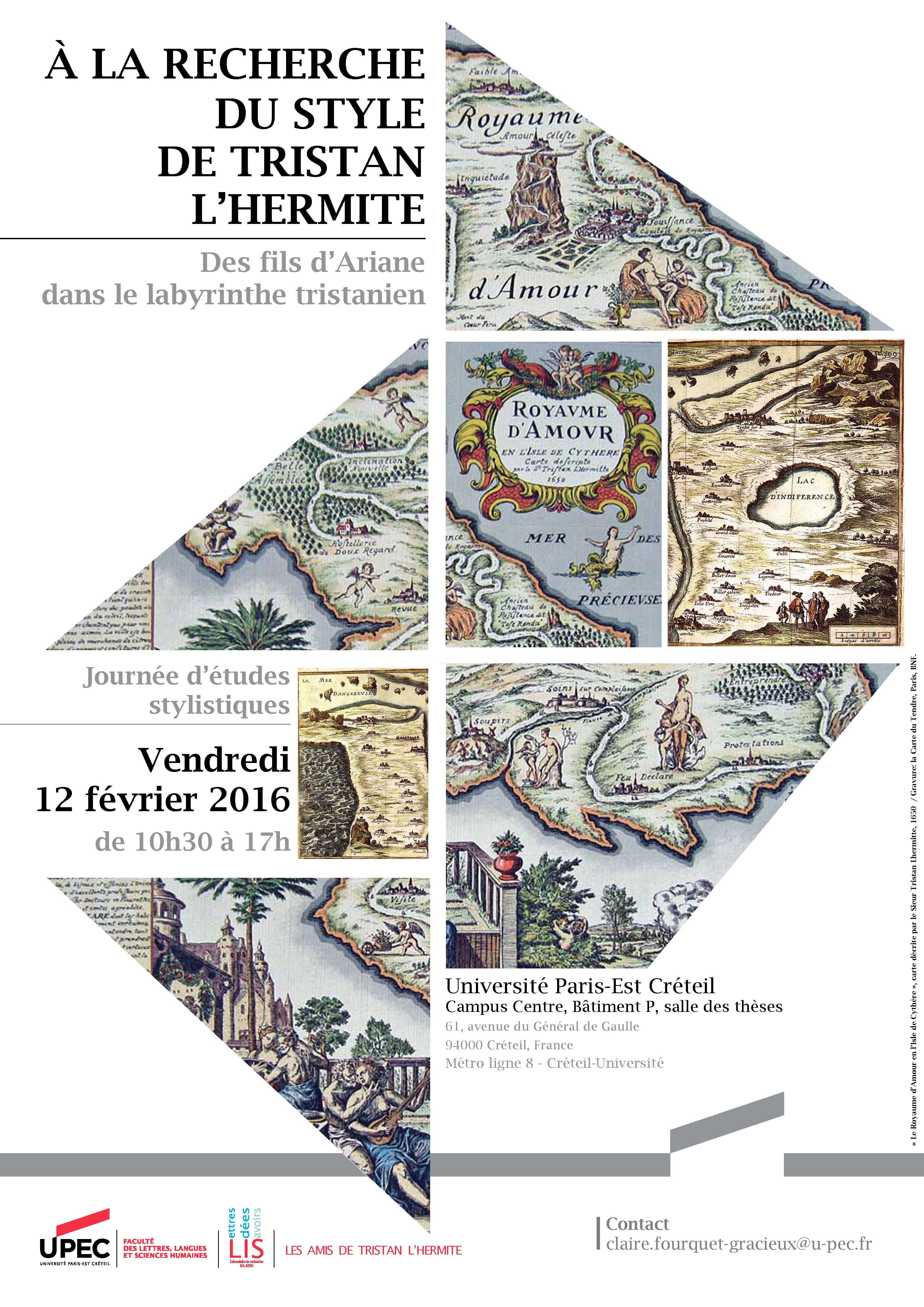 À la recherche du style de Tristan L'Hermite : des fils d'Ariane dans le labyrinthe tristanien (Créteil)