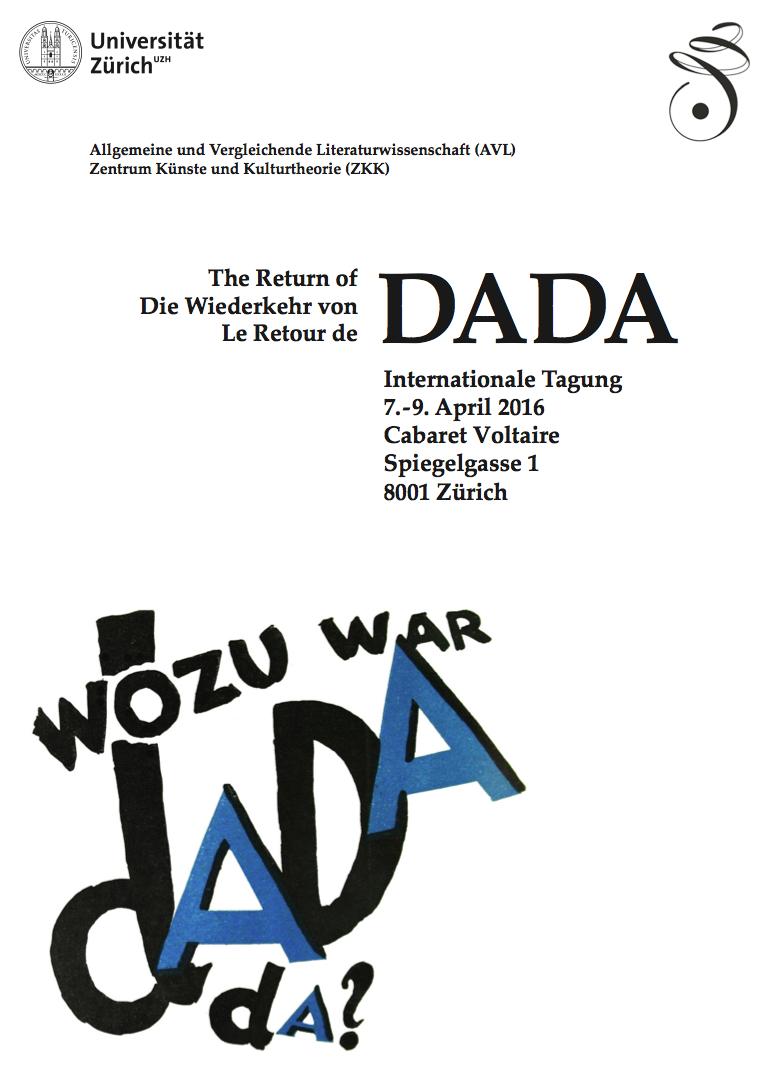 The Return of Dada / Le Retour de Dada / Die Wiederkehr von Dada (Zürich)