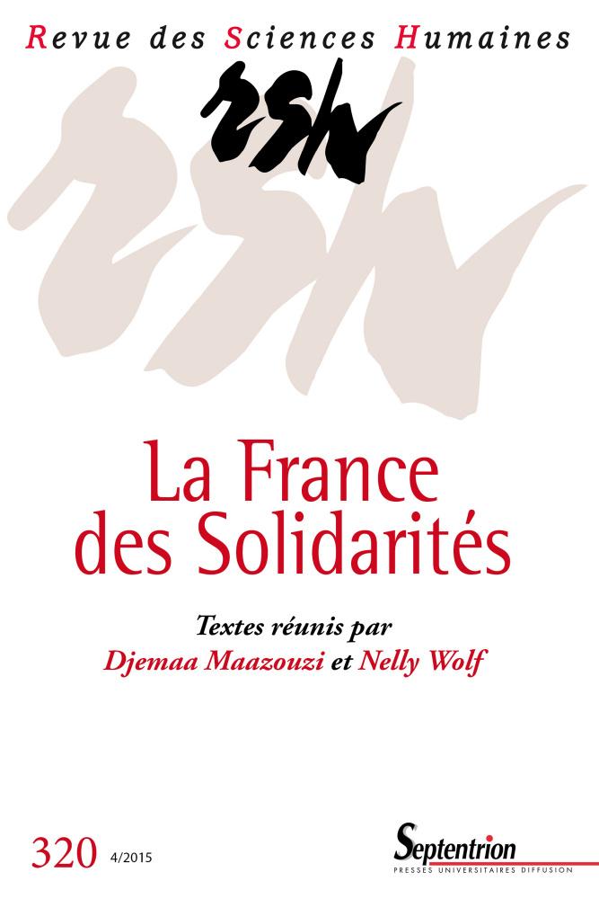 Revue des sciences humaines n 320 la france des for Revue sciences humaines