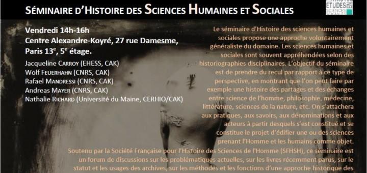 Séminaire «Histoire des sciences humaines et sociales» (Paris)