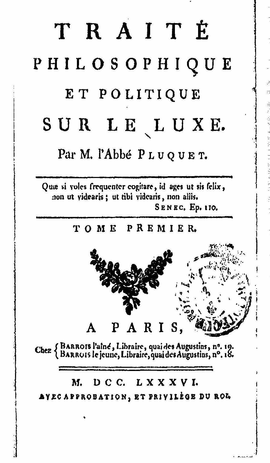 Contre le luxe (XVIIe-XVIIIe s.) (Bordeaux)