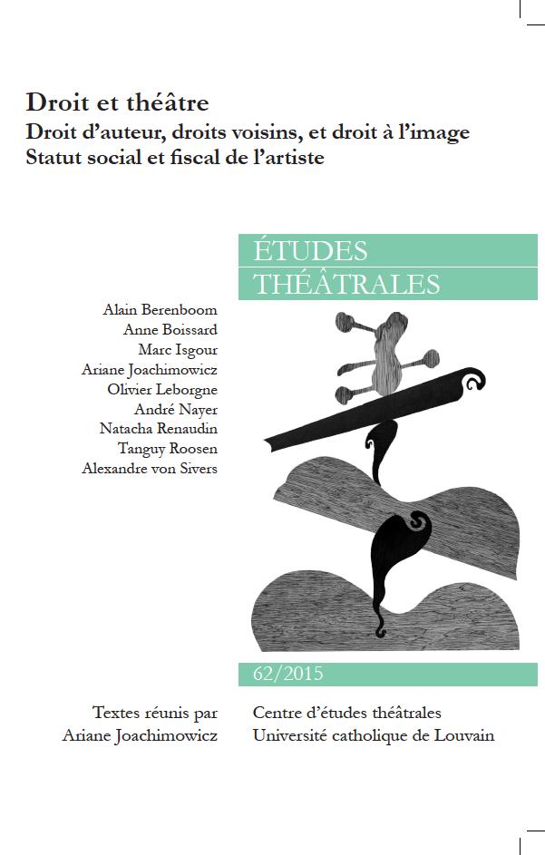 Études théâtrales, n° 62 :