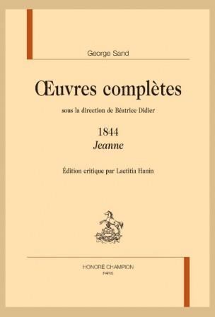 G. Sand, Œuvres complètes : Jeanne (1844)