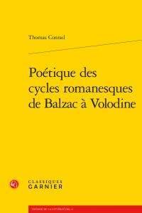 Th. Conrad, Poétique des cycles romanesques de Balzac à Volodine