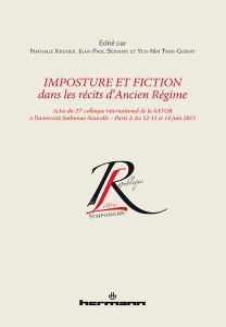 N. Kremer, J.-P. Sermain, Y.-M. Tran-Gervat (dir.), Imposture et fiction dans les récits d'Ancien Régime
