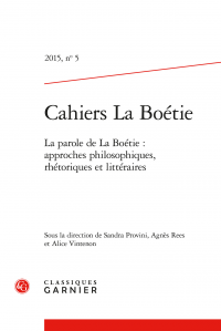 Cahiers La Boétie, ° 5  (2015)