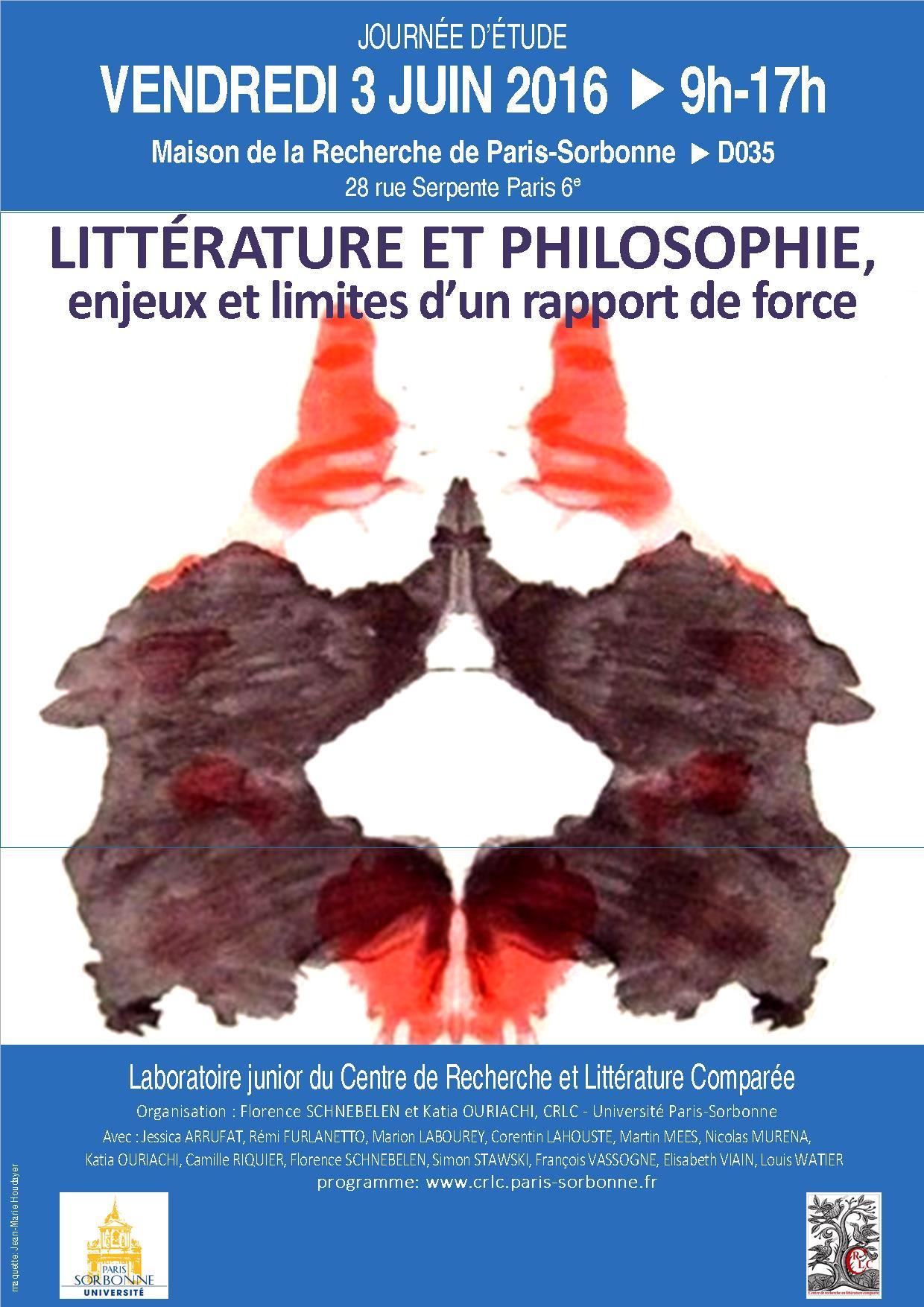 Littérature et philosophie, enjeux et limites d'un rapport de force