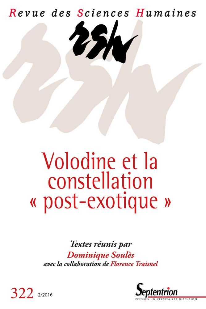 Revue des Sciences Humaines, n°322