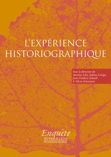 A. Lilti, S. Loriga, J.-F. Schaub, S. Sebastiani (dir.), L'expérience historiographique