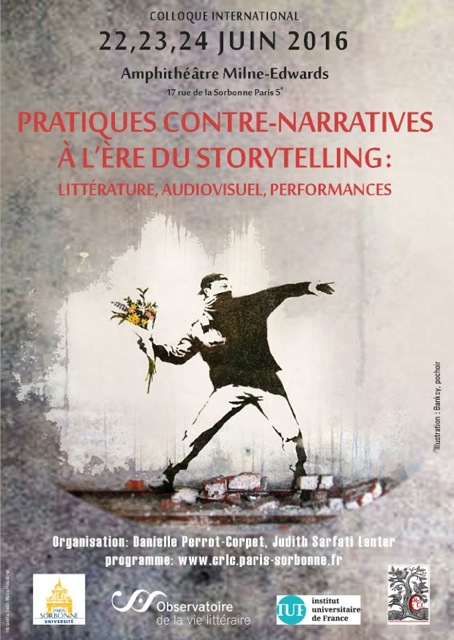 Pratiques contre-narratives à l'ère du storytelling : littérature, audiovisuel, performances (Paris Sorbonne)