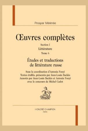 Mérimée, Études et traductions de littérature russe